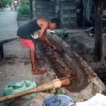 Preparing the clay